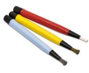 Scratch Brush Set 3 wire brushes -steel, brass,fibreglass