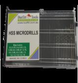 Microbox drill bits 0.3mm to 1.6 mm H.S.S 5% cobalt