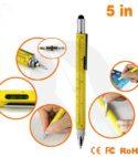 Multi-tool Pen, 6 in 1 Pen with Ballpoint, Ruler, Screwdriver, Flat Head, Touch-screen Pen