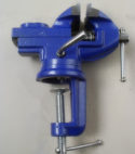 Small bench vise for hobbies 60 mm with Anvil