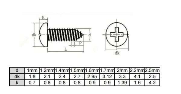Drawing for micro screw