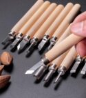 Model and woodworking chisels